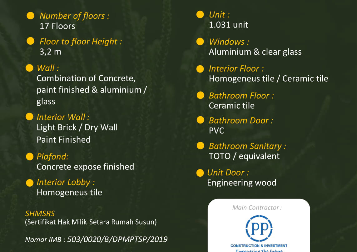 Building Specification